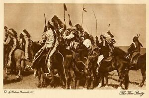 THE VANISHING RACE - THE WAR PARTY  -  GENUINE & AUTHENTIC -  PHOTOGRAVURE  10
