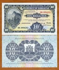 Gibraltar, 10 shillings, 2018, official copy of 1934, nominal legal tender