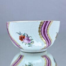 Meissen um 1770: Kumme mit Textil Dekor, Blumen, Neuosier, Schale, Schüssel bowl