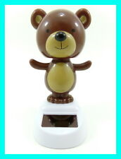 NEW Solar Dancing Teddy Bear Novelty Collectible Toy Figurine **Fast Shipping**