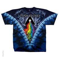 PINK FLOYD PRISM RIVER TIE-DYE COLORFUL RAINBOW ENGLISH BAND ROCK T SHIRT M-XL