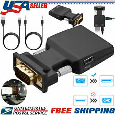 VGA Male to HDMI Female Converter with Audio Adapter Support 1080P Signal Output