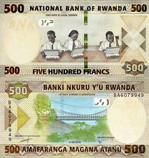 Rwanda 500 Francs Banknote World Paper Money Unc Currency Pick p-New 2019 Bill