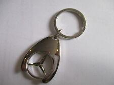 Benz Schlüsselanhänger portachiave keyring chrom Einkaufswagenchip Chip