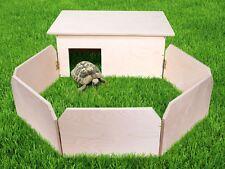 Schildkröten-Haus Auslauf XXL Handgefertigt Terrarium Gehege Käfig Schutz-Haus