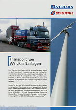 Scheuerle Nicolas Transport Windkraftanlagen Prospekt 2006 LKWs Schwertransport