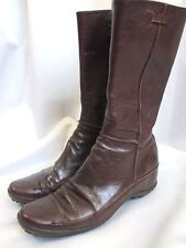 ASH Boots Women's 39 Brown Leather Side Zip Comfort Rubber Sole Mid Calf Fashion