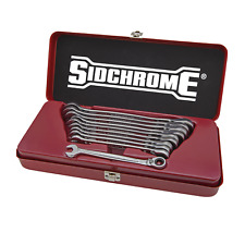 Sidchrome METRIC PRO SERIES GEARED SPANNERS SET SCMT22202N 10Pieces Ring Head