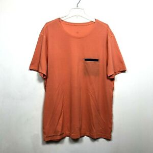 Lululemon Tech T Shirt Top Pocket Tee Short Sleeve Athletic Orange Mens Size XL