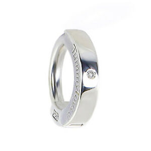 TummyToys Silver Navel Ring Set with a Natural 1 Point Real Diamond [TT-63069]