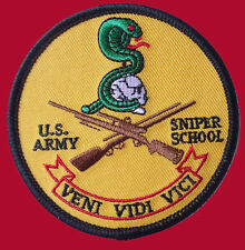 US ARMY SNIPER SCHOOL TACTICAL COMBAT 3.0 INCH SNIPER HOOK PATCH