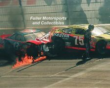 JOHN ANDRETTI RICK MAST 1998 NASCAR CRASH 8X10 PHOTO WINSTON CUP TEXAS SPEEDWAY