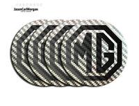 MG ZR Alloy Wheel Centre Cap Badges Black Carbon 80mm Logo New Badge Set