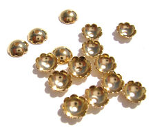 5982FN Bead Cap Gold ptd Brass 8mm Flat w Scalloped Edge for 8-10mm bead 100 Qty