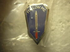 "ARMY HAT PIN - INFANTRY SCHOOL ""FOLLOW ME"""