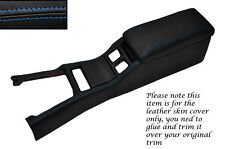 BLUE STITCH CENTRE CONSOLE COVER&ARMREST LEATHER COVERS FITS TOYOTA SUPRA MK3