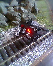 HORNBY 00 MODEL RAILWAY TRACK BUFFER STOP DC or DCC WITH 12 VOLTS RED LED LIGHT