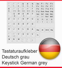 TASTATURAUFKLEBER DEUTSCH GRAU GREY KEYSTICK GERMANY GERMAN FÜR PC NOTEBOOK NEU