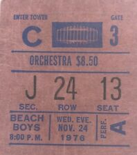 1976 The Beach Boys concert ticket stub Madison Square Garden Surfer Orchestra