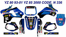 N 336 YAMAHA YZ 80 93-01 YZ 85 2000 Autocollants Déco Graphics Stickers Decals