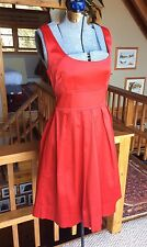 TEEZE ME Sleeveless Satin Red Dress Tie Back Bow Detail Gorgeous Size 9