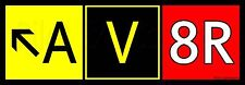 """""""Av8R"""" (Aviator) Airport Taxiway Sign. Aviation Sticker for Pilots! Lot of 2!"""