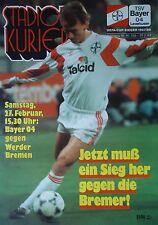 Programm 1992/93 Bayer 04 Leverkusen - Werder Bremen