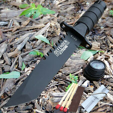 "8.5"" Tactical Fishing Hunting Survival Knife w Sheath Bowie Survival Kit Camping"