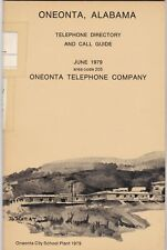 ONEONTA ALABAMA 1979 TELEPHONE PHONE BOOK A C 205