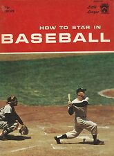 1960 How To Play Baseball Softcover Book With Yankees Mickey Mantle on Cover