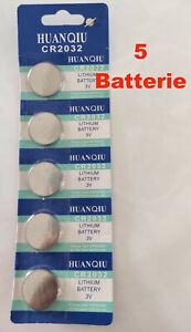5 Pile Batterie litio DL2032 CR2032 3V CR 2032 Piles DL orologio bottone blister