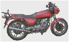 Moto Guzzi Monza Bike Cross Stitch Kit by Florashell