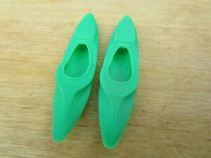 "(2)  "" S  SCALE ""  WHITE WATER KAYAK'S   L@@K  1:64  1/64  3D PRINTED    GREEN"