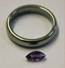NATURAL LOOSE AMETHYST GEMSTONE 8X4MM MARQUISE CUT GEM 0.5CT FACETED AM66D