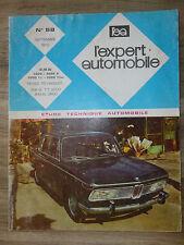 REVUE EXPERT AUTOMOBILE N° 58 = BMW 2000 ( TI - TILUX )