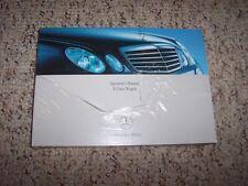 2007 Mercedes Benz E-Class E 350 4Matic 63AMG Owner User Manual Guide Book