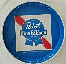 "Pabst Blue Ribbon ""What Will You Have, Sir!"" Beer Vintage Beer Tray Tin #1"