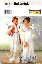 Butterick 6631 Misses Historical Regency Jacket & Dress Sewing Pattern Sz 6 8 10