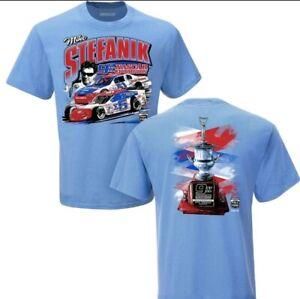 Mike Stefanik Licensed 2021 Nascar Hall of Fame T-Shirt Large