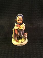 Vintage W. Goebel W. Germany 4 1/4� Girl Feeding Yellow Chicks & Roosters