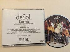 DeSol Karma :Rare US Promo Single CD, 2005 Promotional Copy: Free UK Post