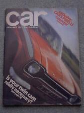 Car (January 1971) Maserati 250F, AC 428, Ford Capri, Austin Maxi, Renault 16