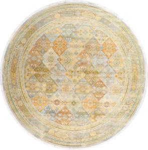 Vintage Style Distressed Design Geometric Heat-Set Area Rug Oriental Carpet