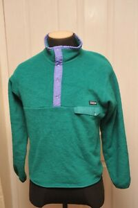 PATAGONIA MADE IN USA MEDIUM BUTTONED FLEECE TOP GREEN