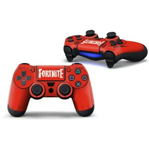 2Pc PS4 Fortnite Vinyl Skins PlayStation 4 Controllers Stickers Decal Rare Wraps