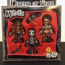 Cinema Of Fear Mez-Itz Freddy Jason Leatherface Horror Movie Figures by Mezco