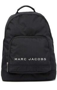 Marc Jacobs Backpack Black All Star Large Nylon Zipper Travel Book bag