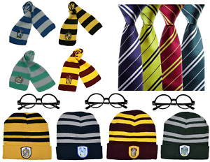 Wizard Scarf Hat Tie Gloves Glasses for Harry Potter Cosplay Fancy Dress Gift UK