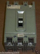Federal Pacific HEF 3 pole 20 amp 600v HEF631020 Circuit Breaker FPE