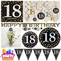 Gold Sparkling Celebration 18th Birthday Party Tableware Decorations Balloons